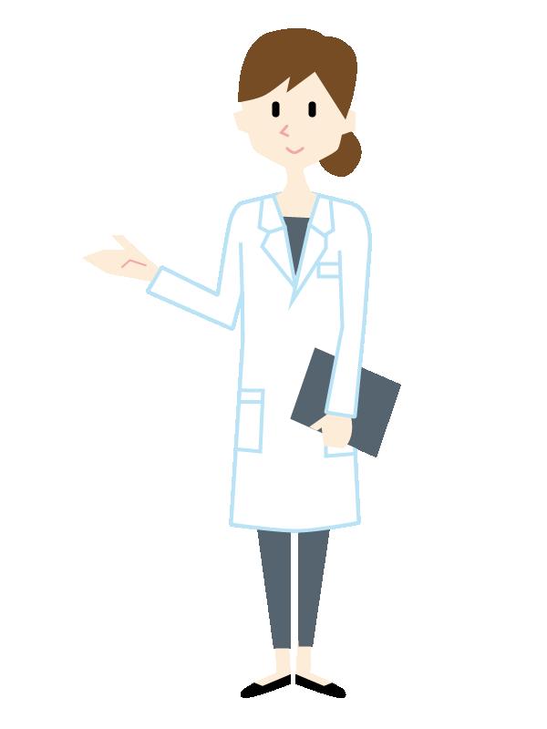 白衣を着た医療系の女性