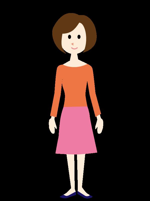 私服の女性