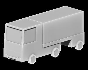 配送トラックの3Dイラスト