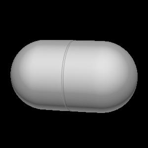 カプセル型の薬の3Dイラスト