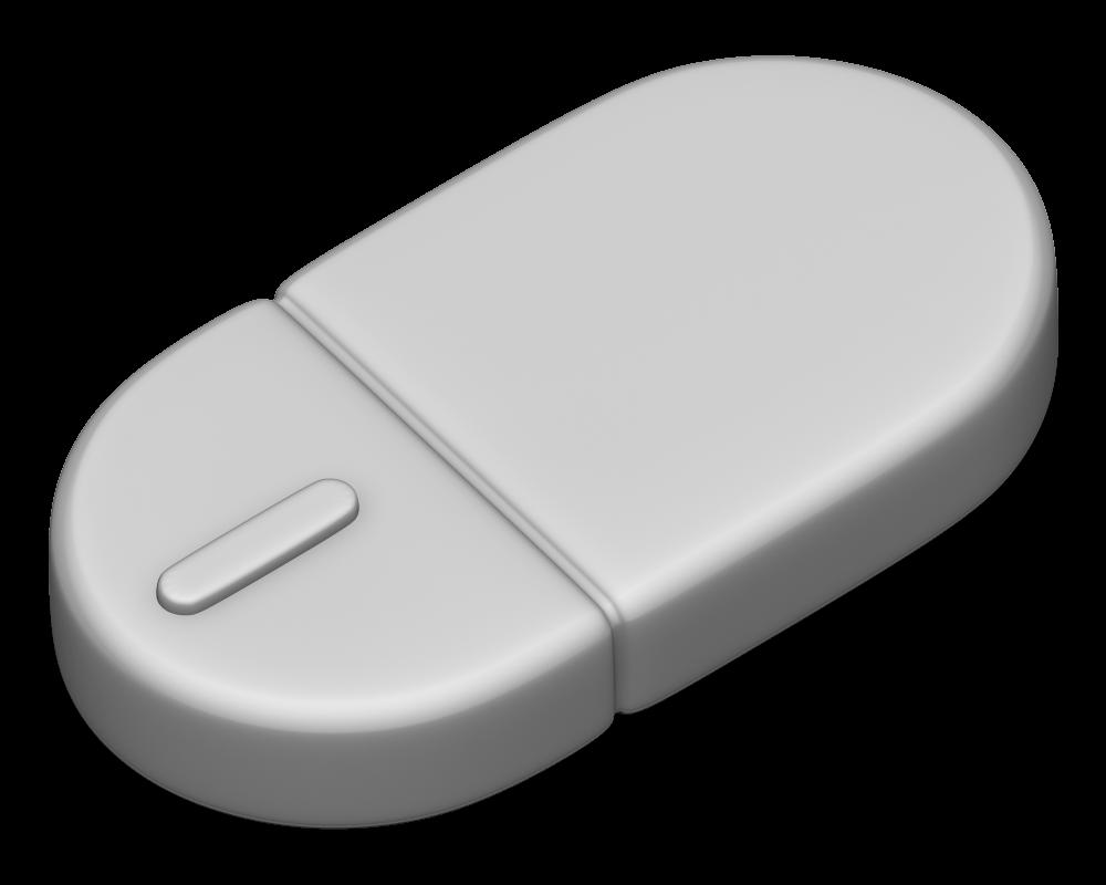 マウスの3Dイラスト
