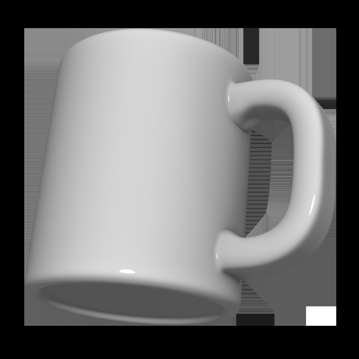 マグカップの3Dイラスト
