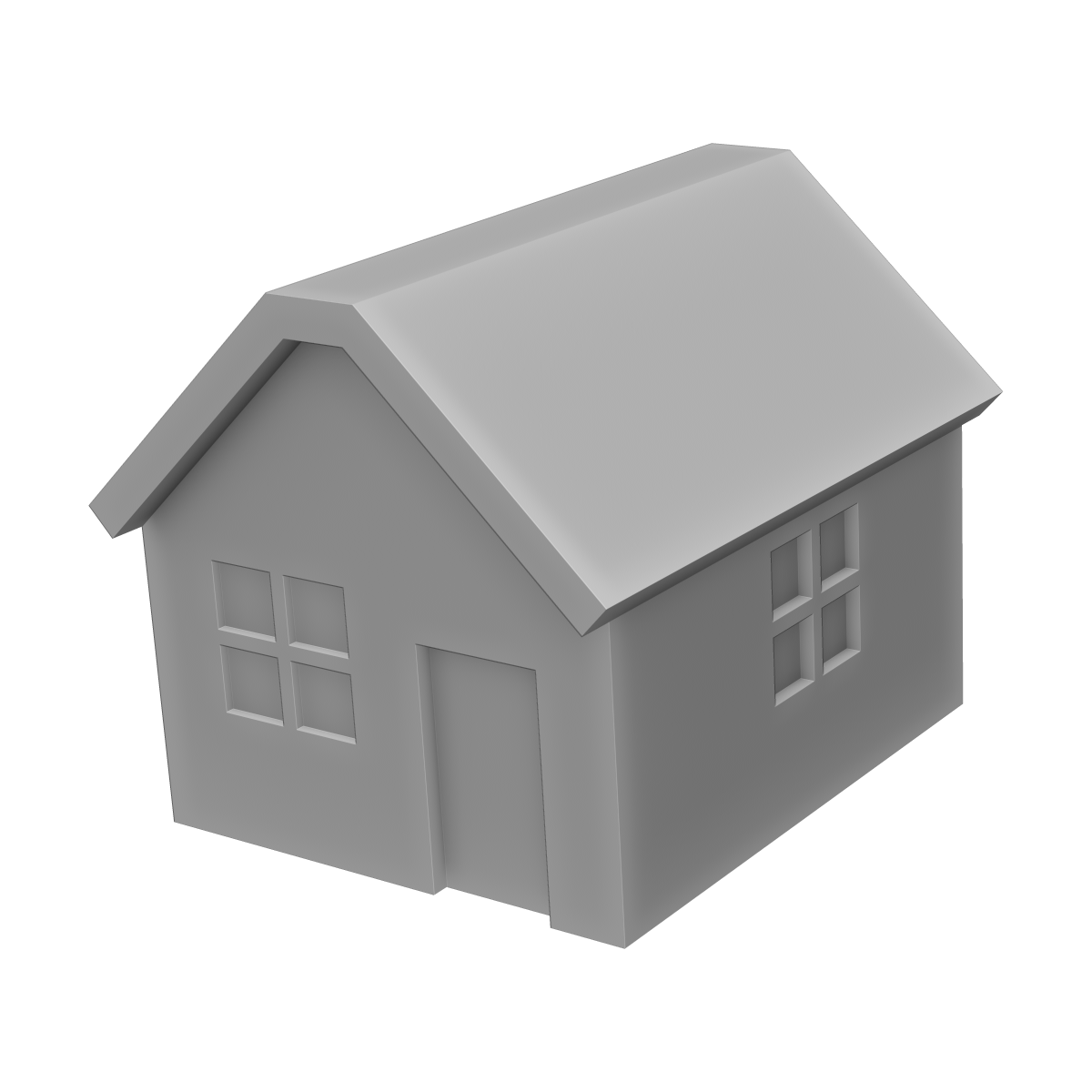 家(全景)の3Dイラスト