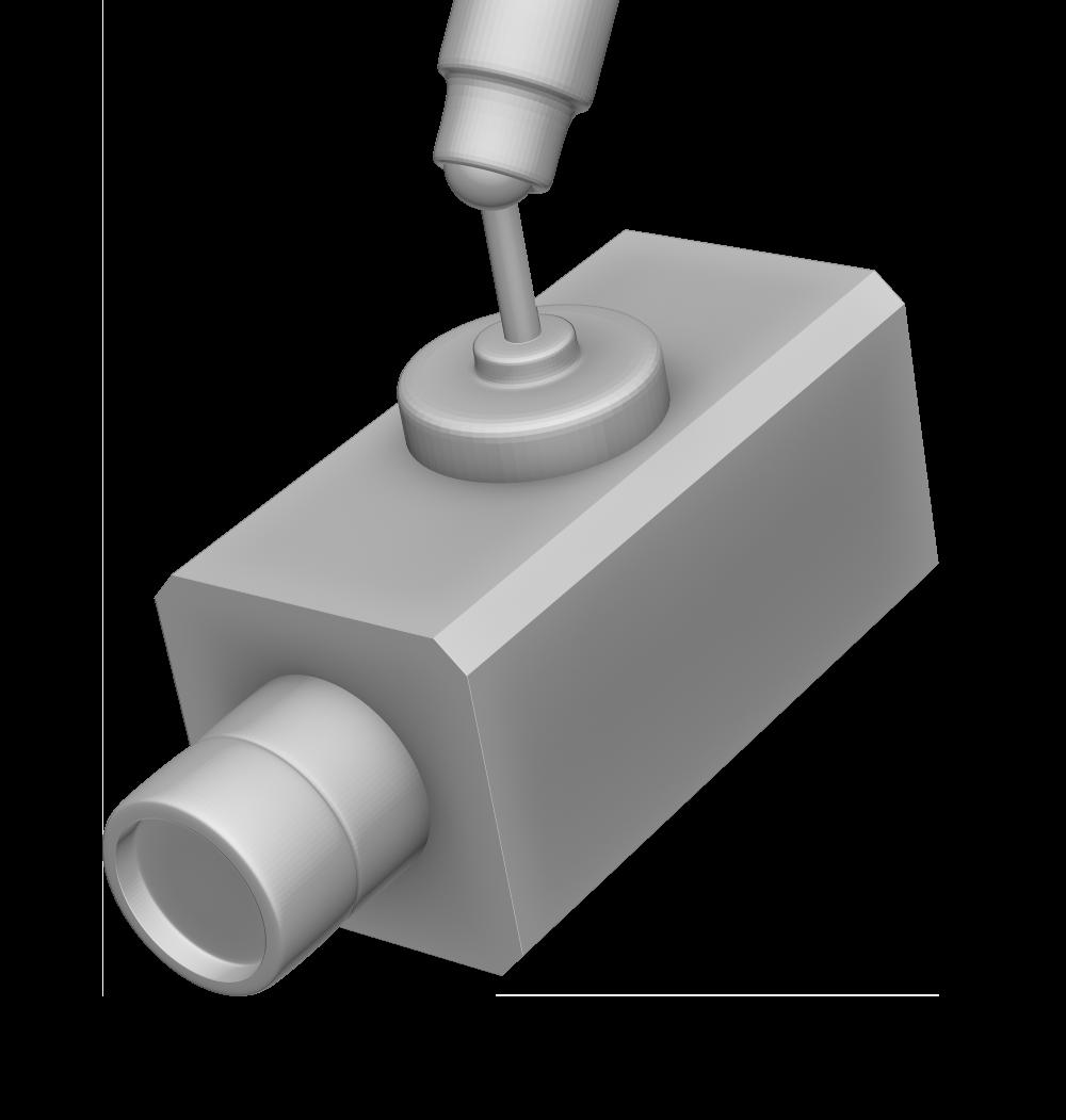 監視カメラ(箱型)の3Dイラスト