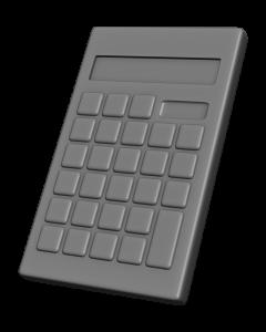 電卓の3Dイラスト