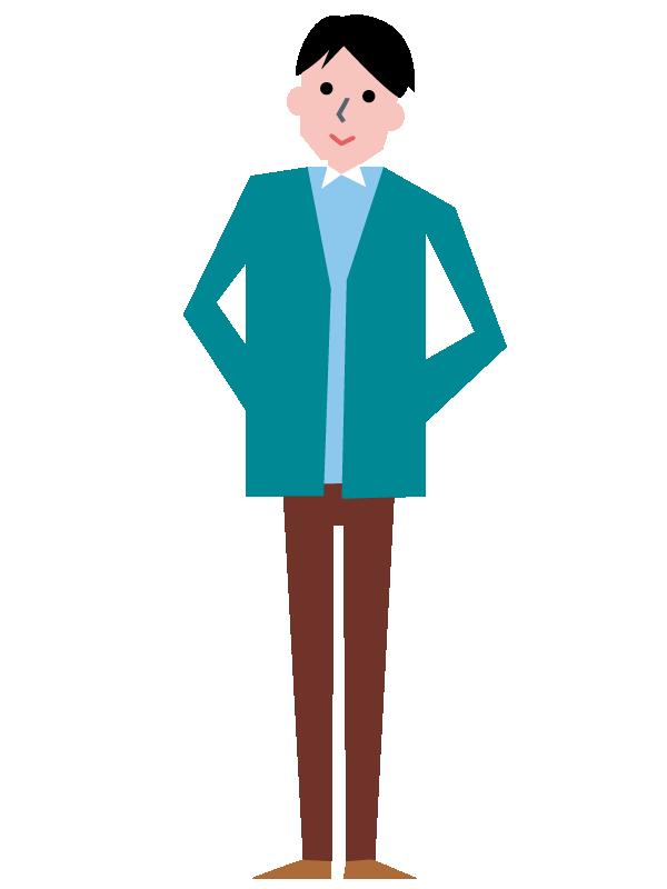 私服の男性のイラスト