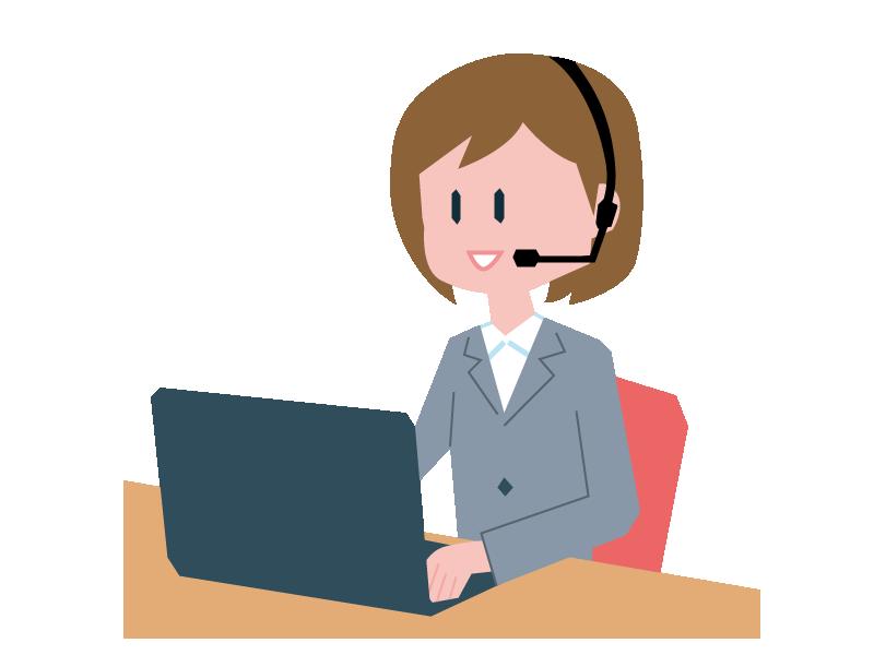 パソコンに向かうオペレーターの女性