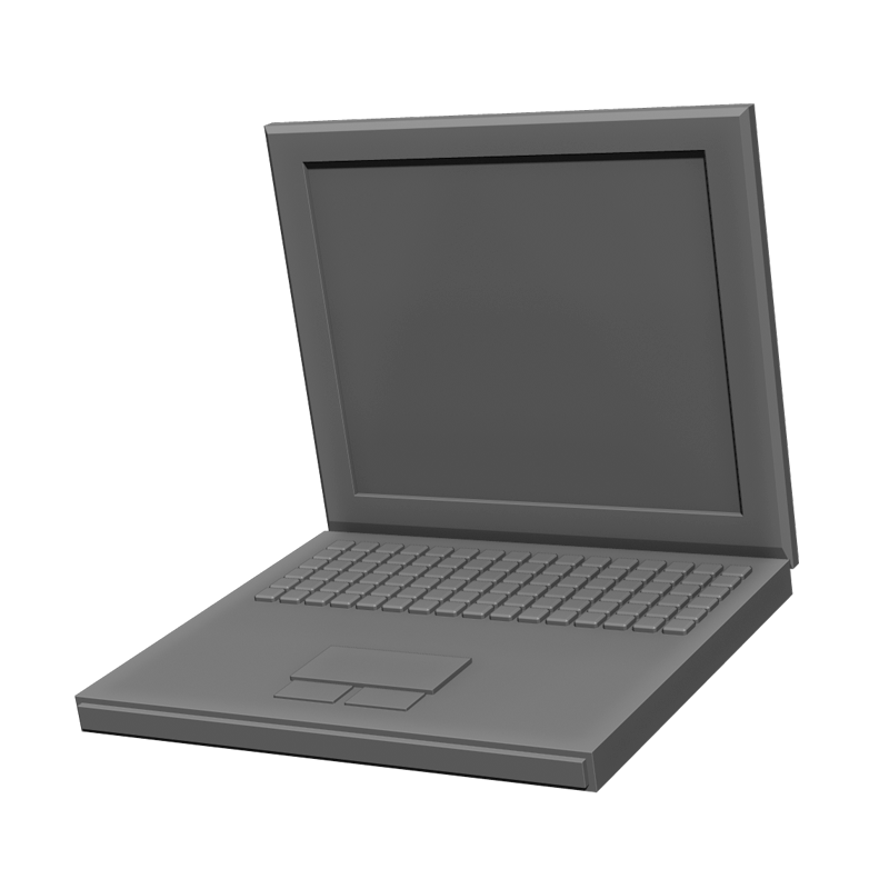 ノートパソコン(3D)のイラスト