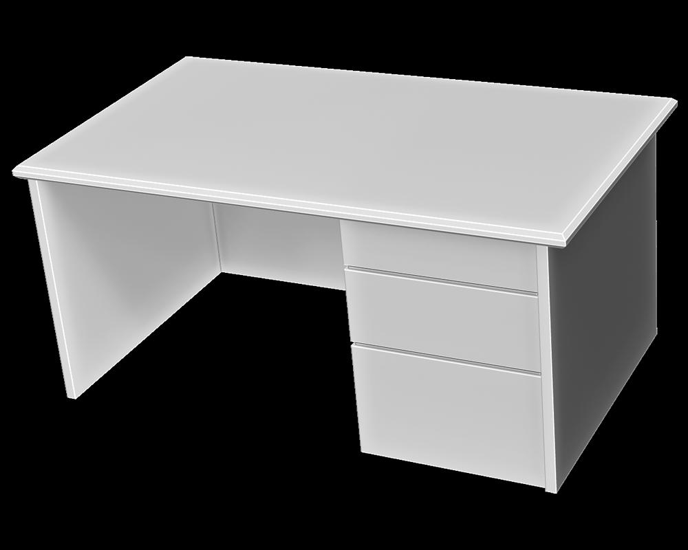 オフィスデスクの3Dイラスト