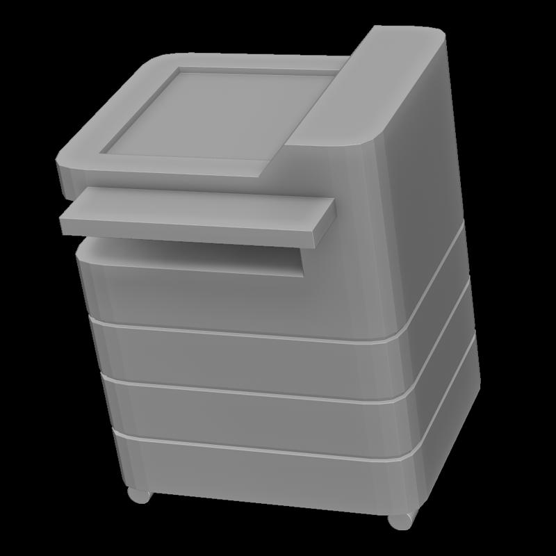 コピー機の3Dイラスト