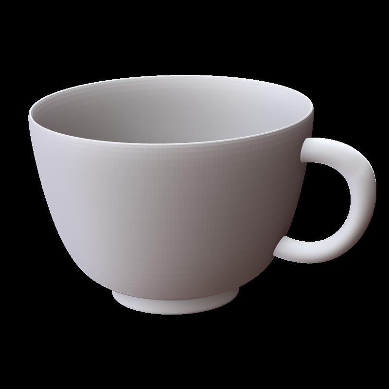 コーヒーカップの3Dイラスト