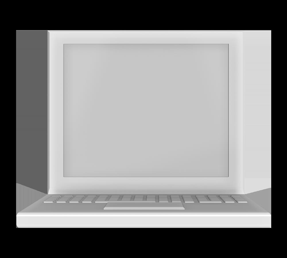 ノートパソコン(正面)の3Dイラスト