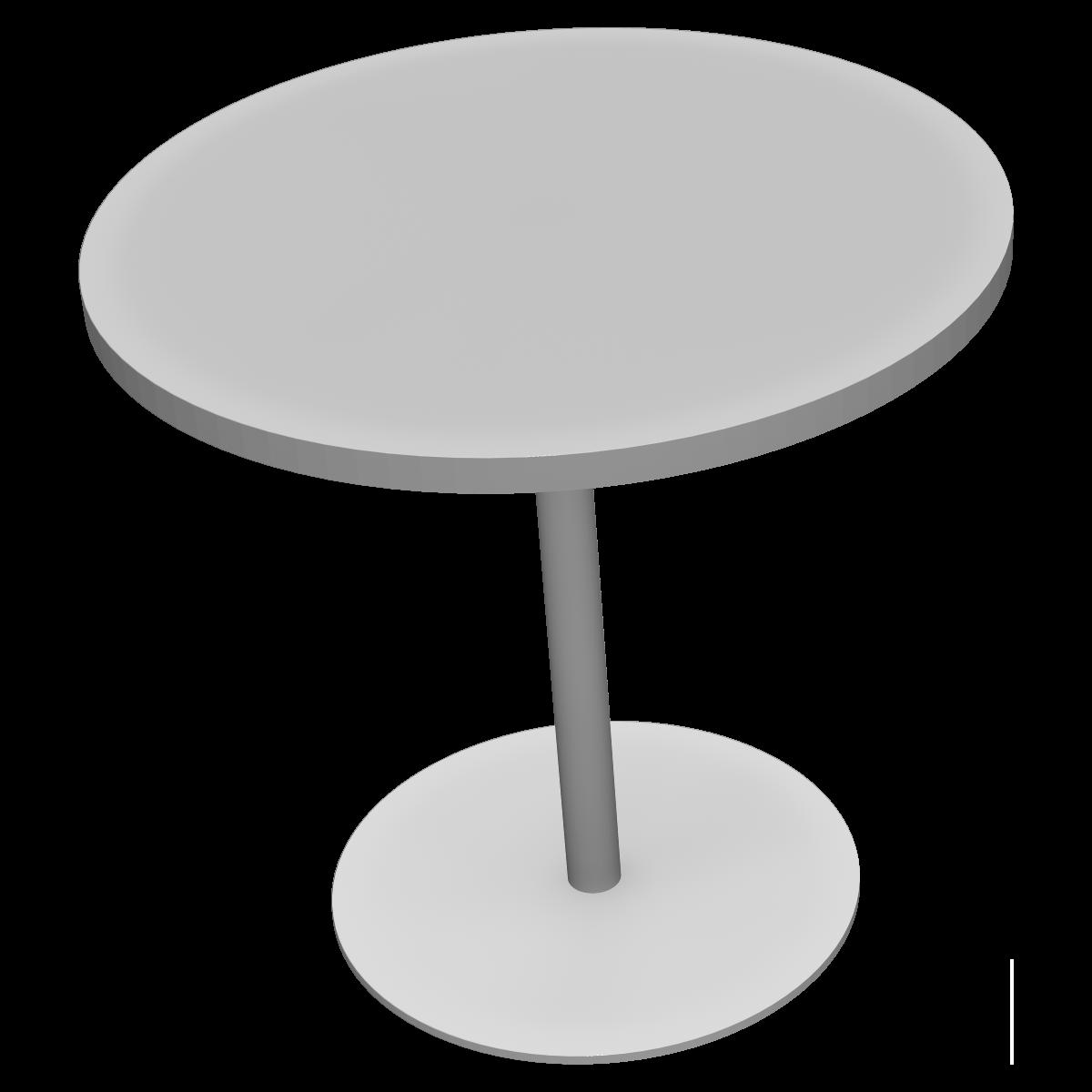 丸型ミーティングテーブルの3Dイラスト